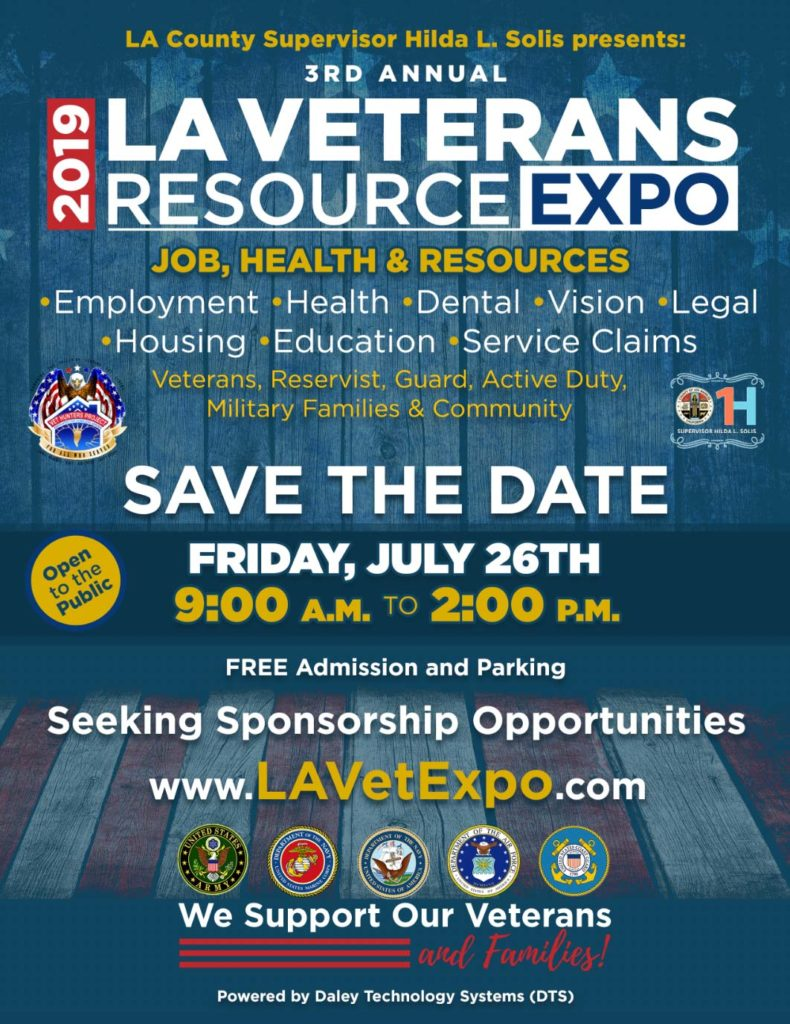 3rd Annual LA Veterans Resource Expo - July 26, 2019